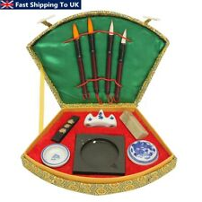 Hot Chinese Calligraphy Set with Writing Pen Brushes Ink Stones Box Tools