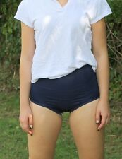 Gym Knickers Size small PE/Games Briefs Netball Panties polyester Navy Blue