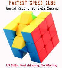 Fastest Stickerless Speed cube 3x3 magic twist puzzle,Set World Record 5.25s