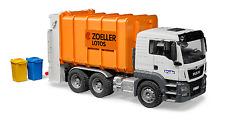 "BRUDER® 03762  "" MAN TGS Hecklader Müll-LKW orange"", NEU & OVP"