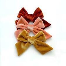Velvet hair bows, velvet baby bow