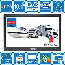 10 Inch Portable HD TV 240V / 12V / Battery. Kitchen Motorhome Caravan Boat BBQ