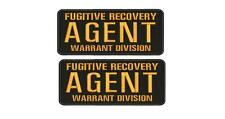 fugitive recovery agent warrant division PATCH 4X10 hook ON BACK