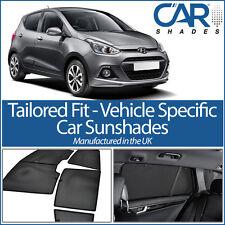 Hyundai i10 5dr 13 en la ventana de cortinas de coche UV Sol persianas de vidrio de Privacidad Tinte Negro