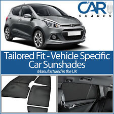 Hyundai i10 5dr 13 On UV CAR SHADES WINDOW SUN BLINDS PRIVACY GLASS TINT BLACK
