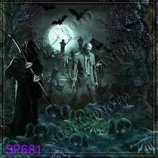 Halloween 10'x10'  Computer-painted Season Scenic background backdrop SP681B881