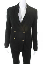 Saylor Womens Charlize Ribbed Double Breasted Blazer Black Size Small
