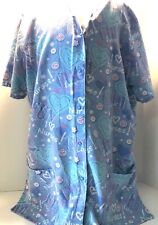Simply Basic Size Small Blue Jean I Love Nurses Hearts Pink Scrub Top Snap Up