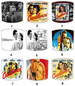 Old Casablanca Film Movie Lampshades, Fits Either Table Lamps Or Ceiling Lights