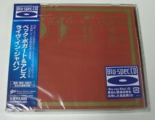 JEFF BECK BOGERT APPICE LIVE JAPAN Blu Spec 2 CD sealed new OOP EICP-20011