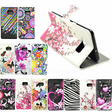 Leather Stand Flip Wallet Phone Case Accessories Cover For Samsung Galaxy Note 5