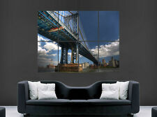 NEW YORK POSTER  MANHATTAN BRIDGE ART WALL PICTURE  GIANT