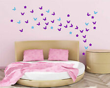 54 Butterfly with Flowers (UP TO 54) Wall Stickers Vinyl art Decals Decor design