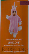 Halloween Infant Pink & White Unicorn Jumpsuit Costume Size 3-6 months 12-16 lbs