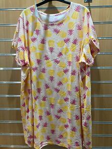 Pretty Secrets pineapple print Nightie uk size 28-30 bnip
