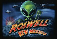 Roswell New Mexico, UFO Alien Little Green Men 1947 Military Cover Up ? Postcard
