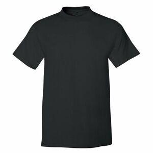 Hanes USA Beefy Plain Cotton BLACK Heavyweight Tee Tshirt T-Shirt S - 6XL