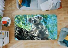 3D Koala Australia I469 Animal Non Slip Rug Mat Round Elegant Carpet Honey