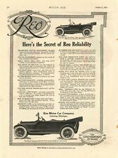 1916 REO Motor Car Co. Auto Ad: REO the Fifth, The Incomparable Four - Lansing