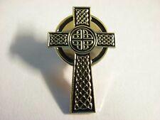 Celtic Cross pin badge. Gaelic cross. New listing and very nice.