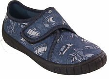 SUPERFIT Schuhe Hausschuhe blau Textil Klettverschluss Motorrad Mopped NEU