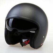 Viper RS-V06 Matt Black Motorcycle Bike Open Face Jet Crash Helmet Scooter NEW