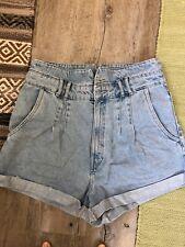Zara High Waist Paperbag Jeans short Gr.42