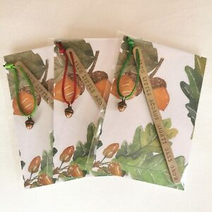 HANDMADE BOOKMARK HAND STAMPED FRIEND BOOK CLUB FROM ACORNS MIGHTY OAKS GROW