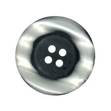 LARGE TWO TONE RIM BUTTONS BLACK AND SILVER 28mm - 38mm