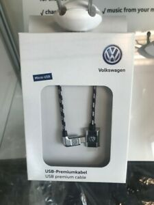 000051446R VW braided 30cm micro usb cable new genuine part