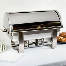 Roll Top Deluxe Full Size Silver 8 Qt. Stainless Steel Catering Chafing Dish