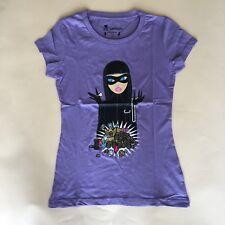 New Women's Tokidoki Lady Pickpocket  purple cotton T-shirt Size M