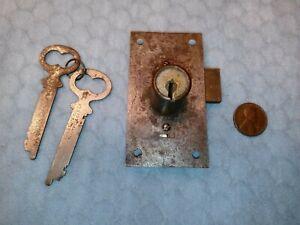 Cupboard Door Cylinder Lock Surface Mounted Reversible