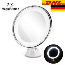 7-fach Vergrößerung Kosmetikspiegel LED Beleuchtet Schwenkbar Saugnapf Spiegel