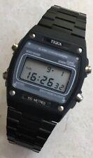 Timex Quartz Tiqua Lcd Digital Watch Nos New WR 100m Like Casio W350 Marlin