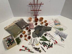 Vintage Flower Kits Artisan Flowers Gardening Crafts Dollhouse Miniature 1:12