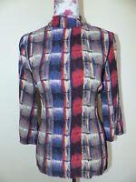 Neue Culture Damen Bluse Gr. M Feines Plissee Multicolor (50103144) NEU/OVP