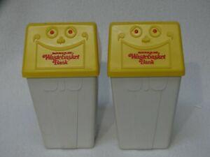 "(2) Vintage 1975 McDonaldland Wastebasket Banks 5 1/2"" h x 2 3/4"" x 2 3/4"""
