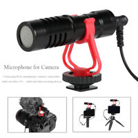 3.5mm Camera Video Microphone Shotgun Record Mic for DSLR Camcorder Smartphone