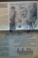 Antiquarische Werbung Nivea Babyfein Babypflege  =664