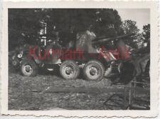 Q849 Foto Wehrmacht Frankreich Nevers Beute Panzer Artillerie auf LKW England !