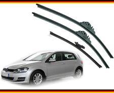 """VW GOLF 2012-on Full Set of 3 wiper blades alca SUPER FLAT 26""""18""""ST 11""""G"""