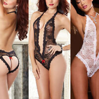 Women Sexy Lace Lingerie Babydoll See Through Sleepwear Onepiece Bodysuit Nw