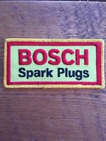 "Vtg Bosch Spark Plugs Embroidered Sew On Patch 4.5"" Auto Racing Badge Germany"
