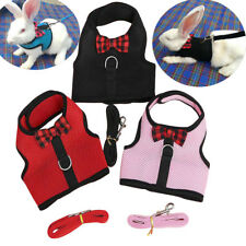 Mesh Small Animal Rabbit Harness and Leash Guinea Pig Ferret Rabbit Clothes