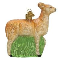 Vintage Doe Deer Glass Ornament Old World Christmas New with Gift Box
