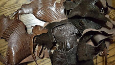 Exotic Leather Genuine Ostrich Leg Leather Remnants, Assorted Ostrich Leg Scraps