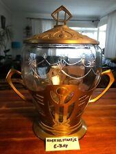 Original Art Deco Punch Bowl Jugendstil Art Nouveau Vase Designer Piece Studio