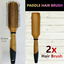 2x Paddle Wooden Hair Brush Detangling Styling Comb Straightener Massage Large