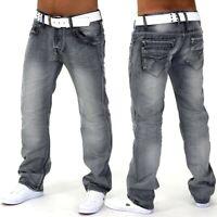 Hommes Jeans Designer Utilisé Ray Gris Fit Club Wear Gris Denim